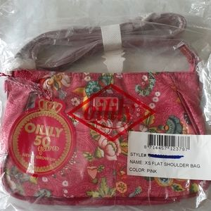 Oilily 50 Years XS Flat Shoulder Bag Nwt Pink